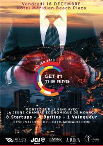 Affiche du Get in the ring Monaco 2016 par Jeremie Design