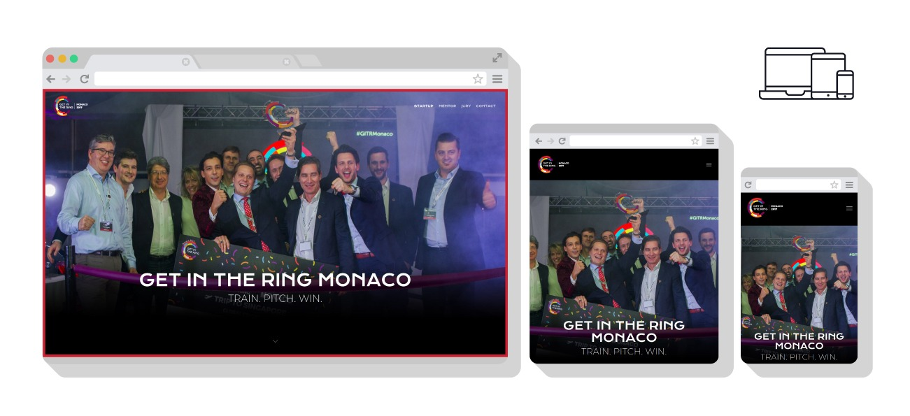 Création du site du Get in the ring Monaco via Wordpress